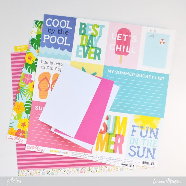 Make the most of mix and matching @PebblesInc patterned paper collections by taking one elements and then repeating it.