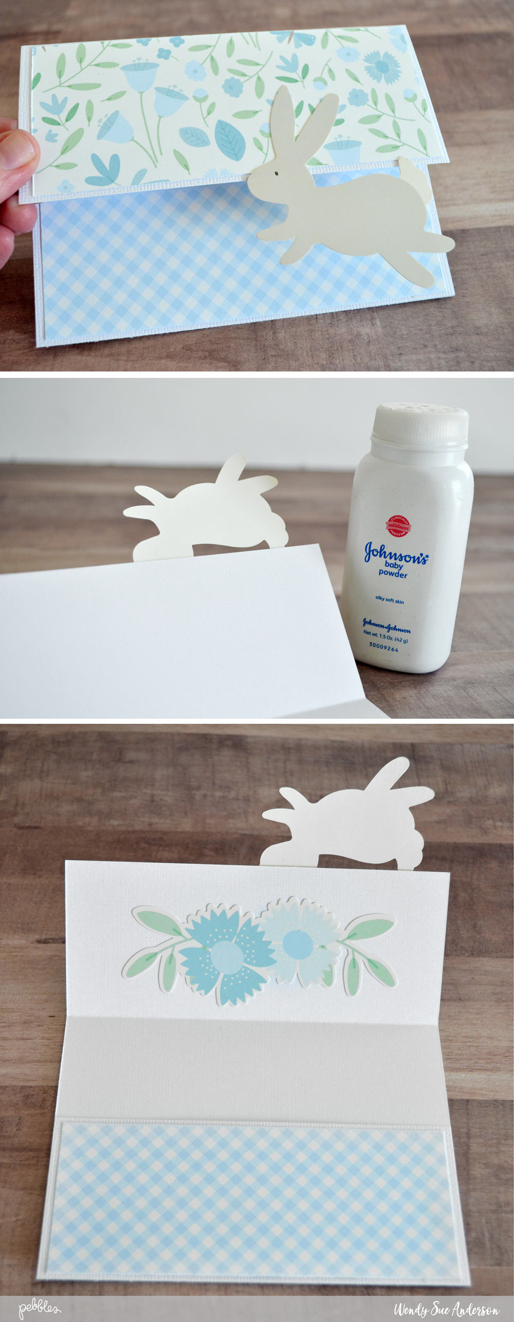 "Send some happy Easter mail this year! @wendysue used our ""Lullaby"" collection to create these cute pocket cards! check it out on the @PebblesInc. blog!"