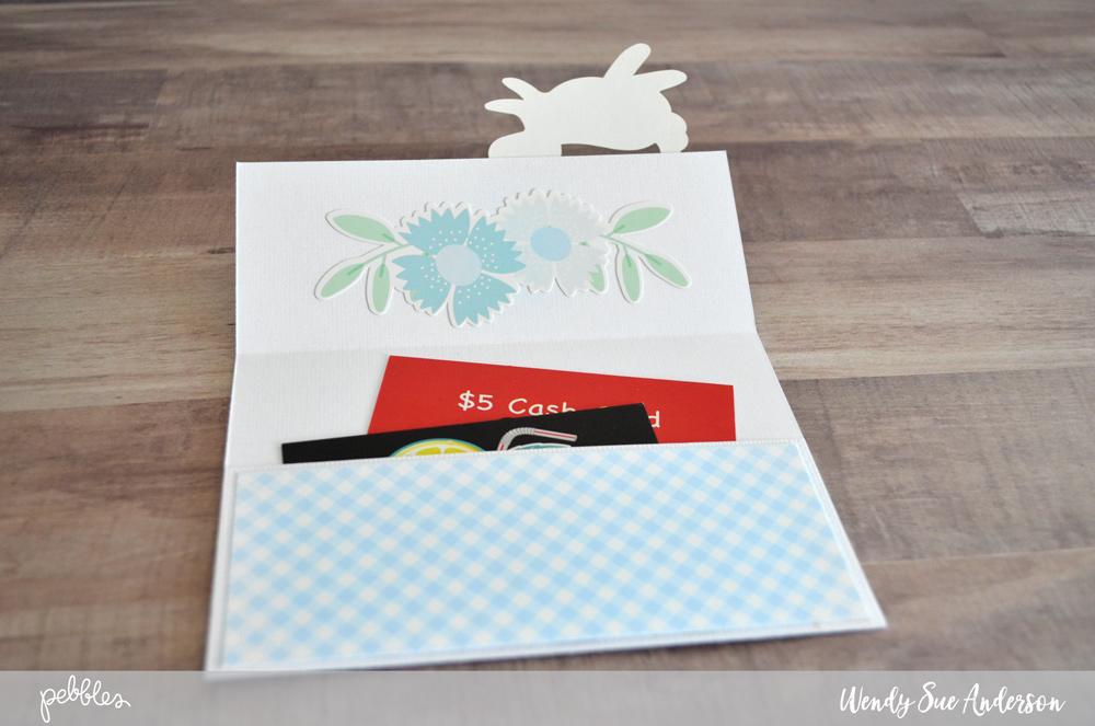 """Send some happy Easter mail this year! @wendysue used our """"Lullaby"""" collection to create these cute pocket cards! check it out on the @PebblesInc. blog!"""