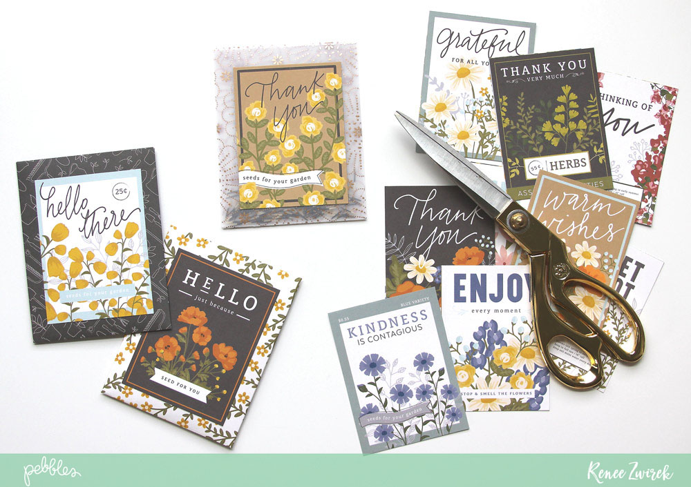 Create the perfect simple gift for those family members and friends with a green thumb with this Seed Packet Quick Gift by @reneezwirek using the #SimpleLife collection by @pebblesinc and @Tatertots and Jello .com