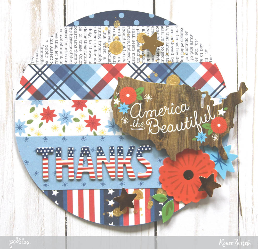 Memorial Day thank you cards by @reneezwirek using the America the Beautiful collection by @pebblesinc