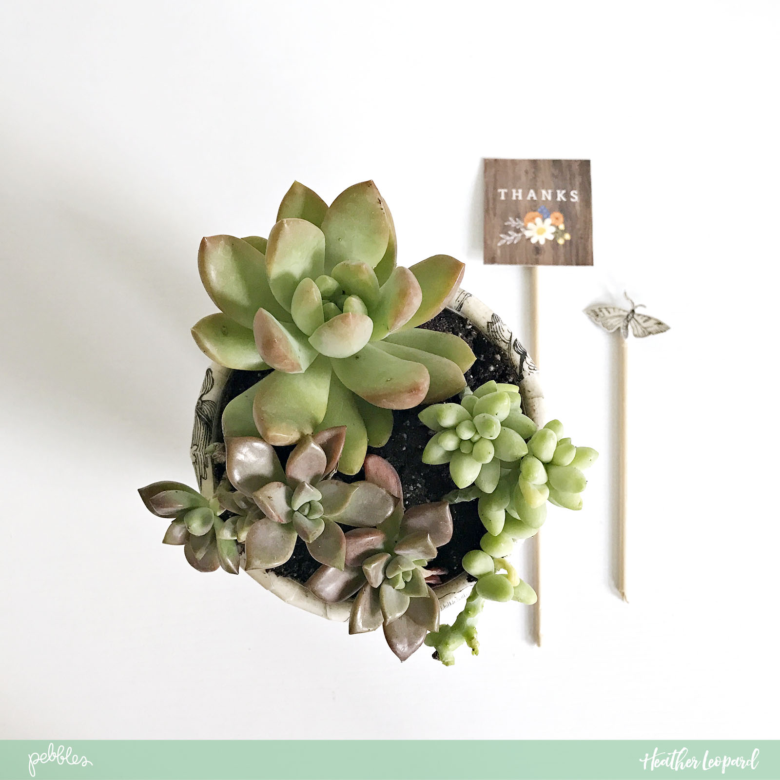DIY Teacher Gift by @heatherleopard using the @PebblesInc #jenhadfield #simplelife collection #teachergift #DIY #decoupagepot #madewithpebbles
