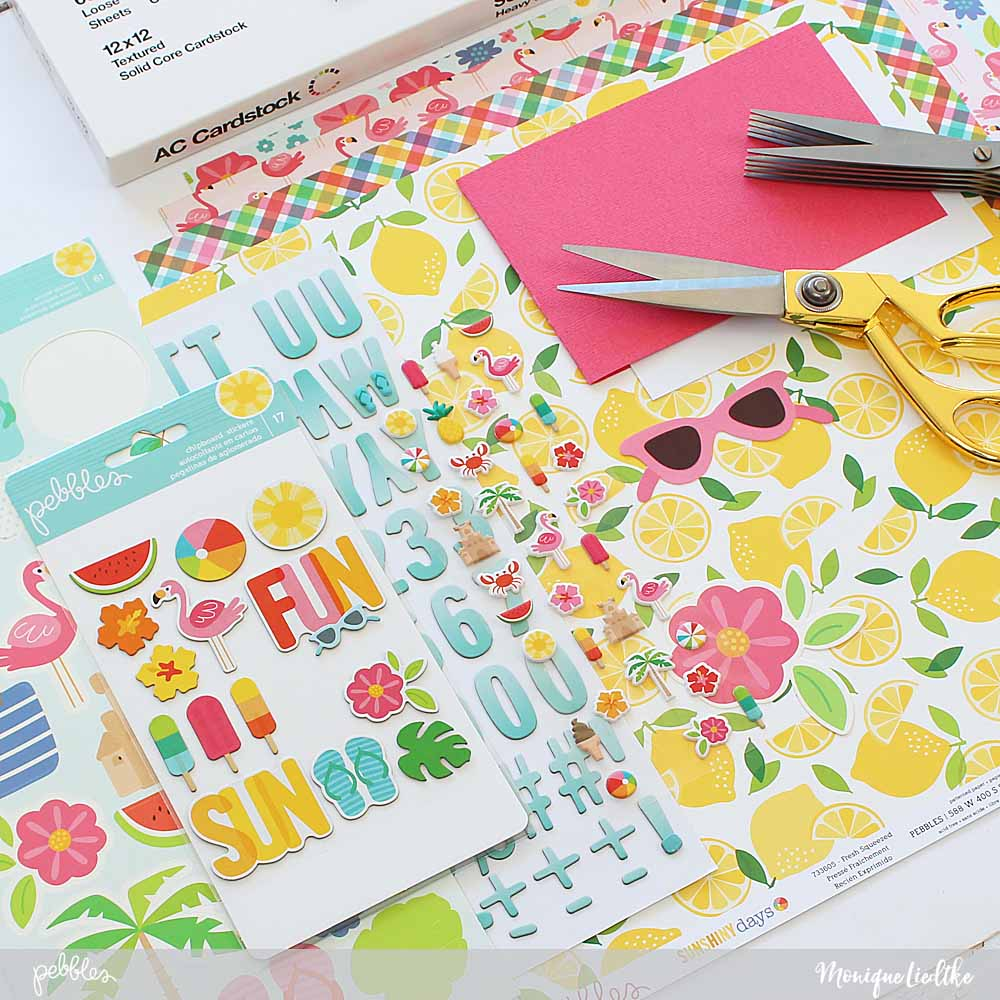 Trio of fun fringe cards created by @moniqueliedtke with the #Sunshiny_Days collection by @PebblesInc #madewithpebbles #pebblesinc #fringe_cards