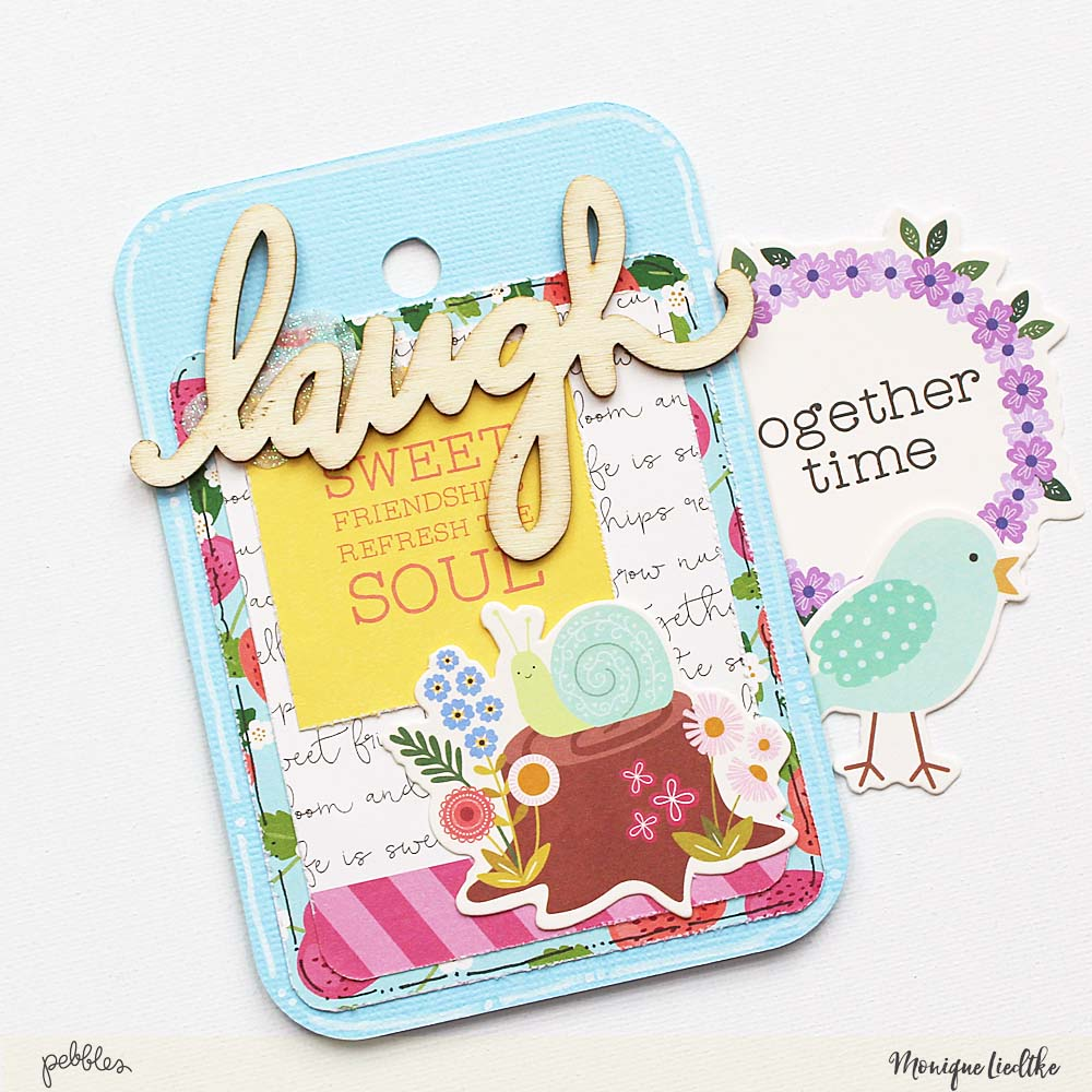"Tealightful DIY tag mini album created by @moniqueliedtke with the ""Tealightful"" collection by @PebblesInc #madewithpebbles #pebblesinc #tag_mini_album"