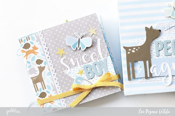 Record your little one's memories with this baby mini album made by @evapizarrov and @pebblesinc new collection #lullaby