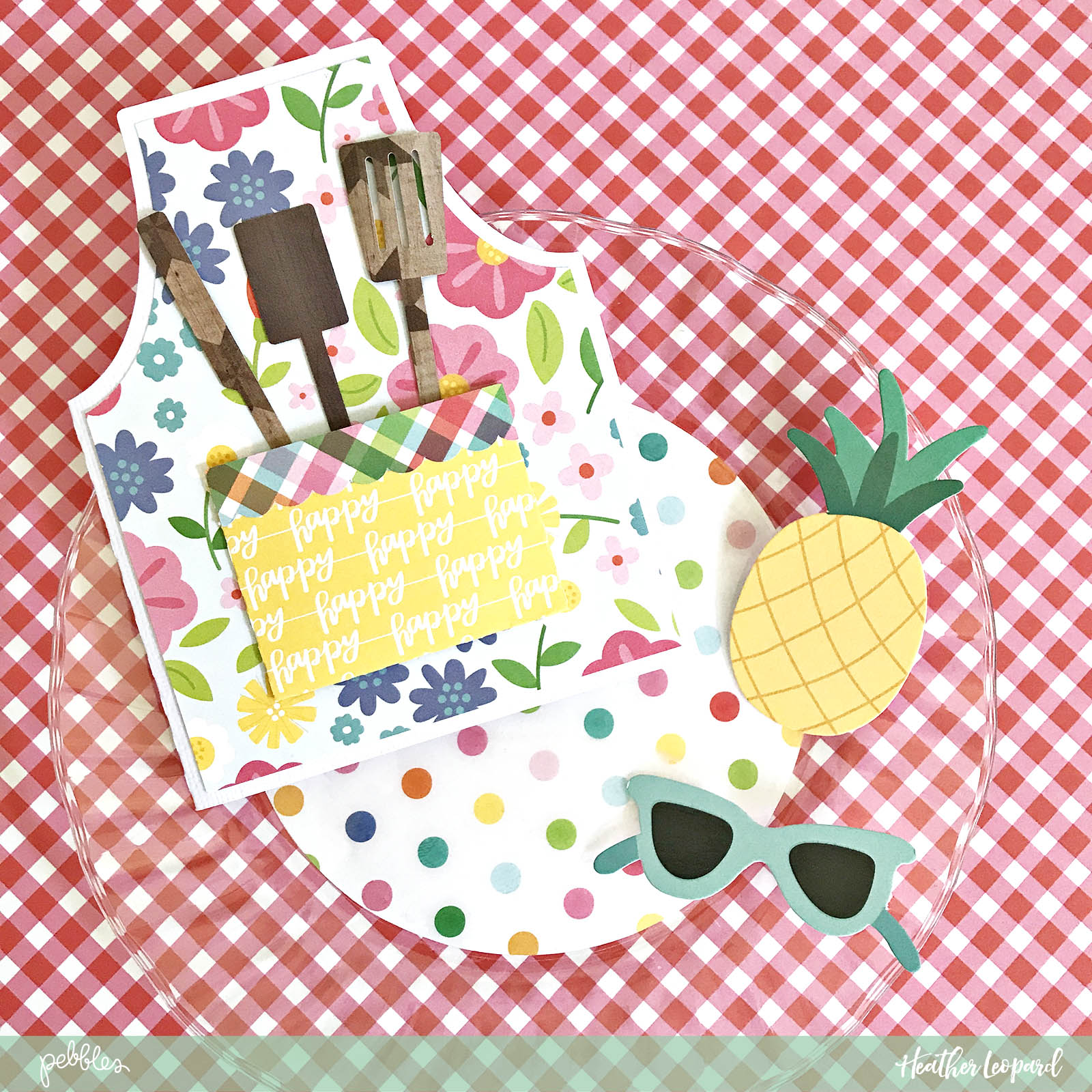 DIY BBQ Picnic by @heatherleopard using the #SunshinyDays collection by @pebblesinc