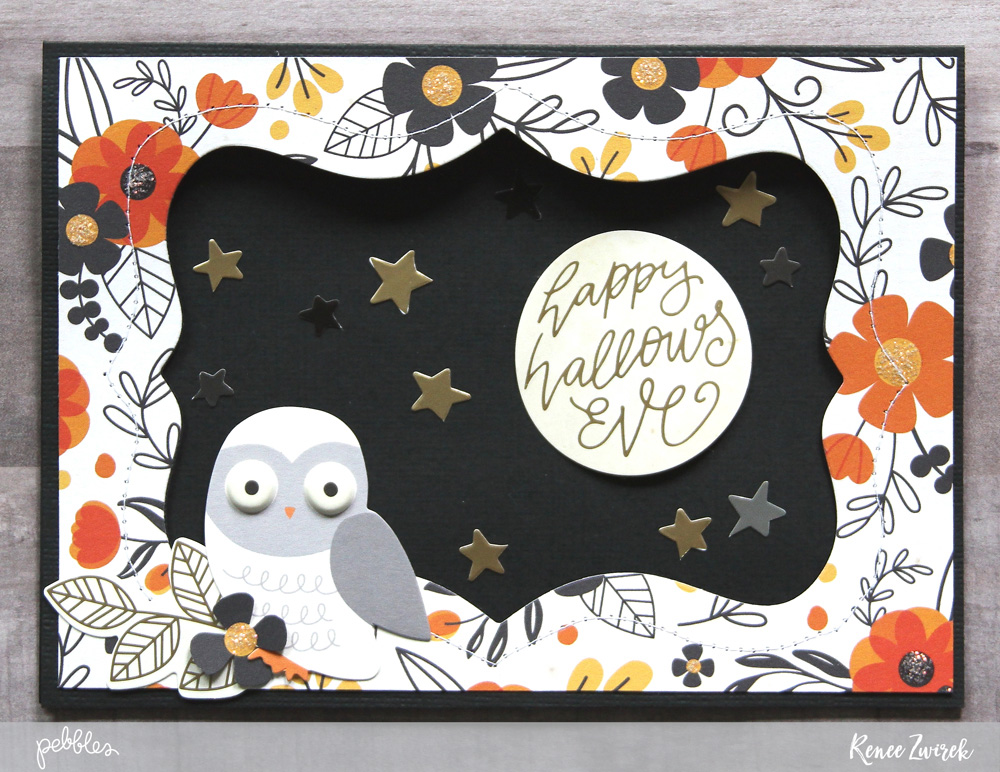 Bootiful Halloween Cards by @reneezwirek using the #MidnightHaunting collection by @pebblesinc