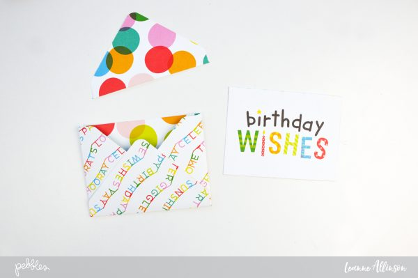 Create a Birthday Page Pocket on your next layout using @PebblesInc  brand new #HappyHoorayCollection.