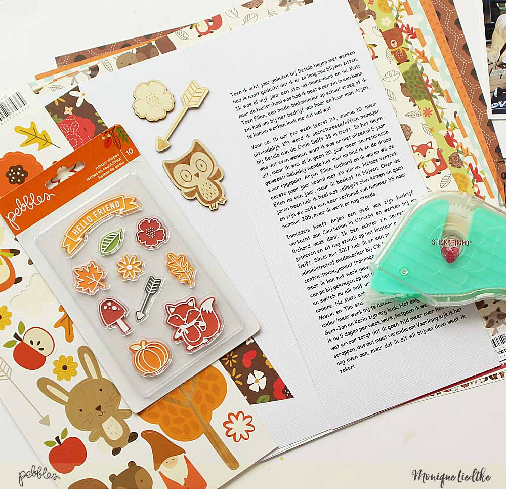 Journal on your layout about your work by @moniqueliedtke with the #Woodland_Forest_collection by @PebblesInc #madewithpebbles #pebblesinc #journaling_on_your_layout