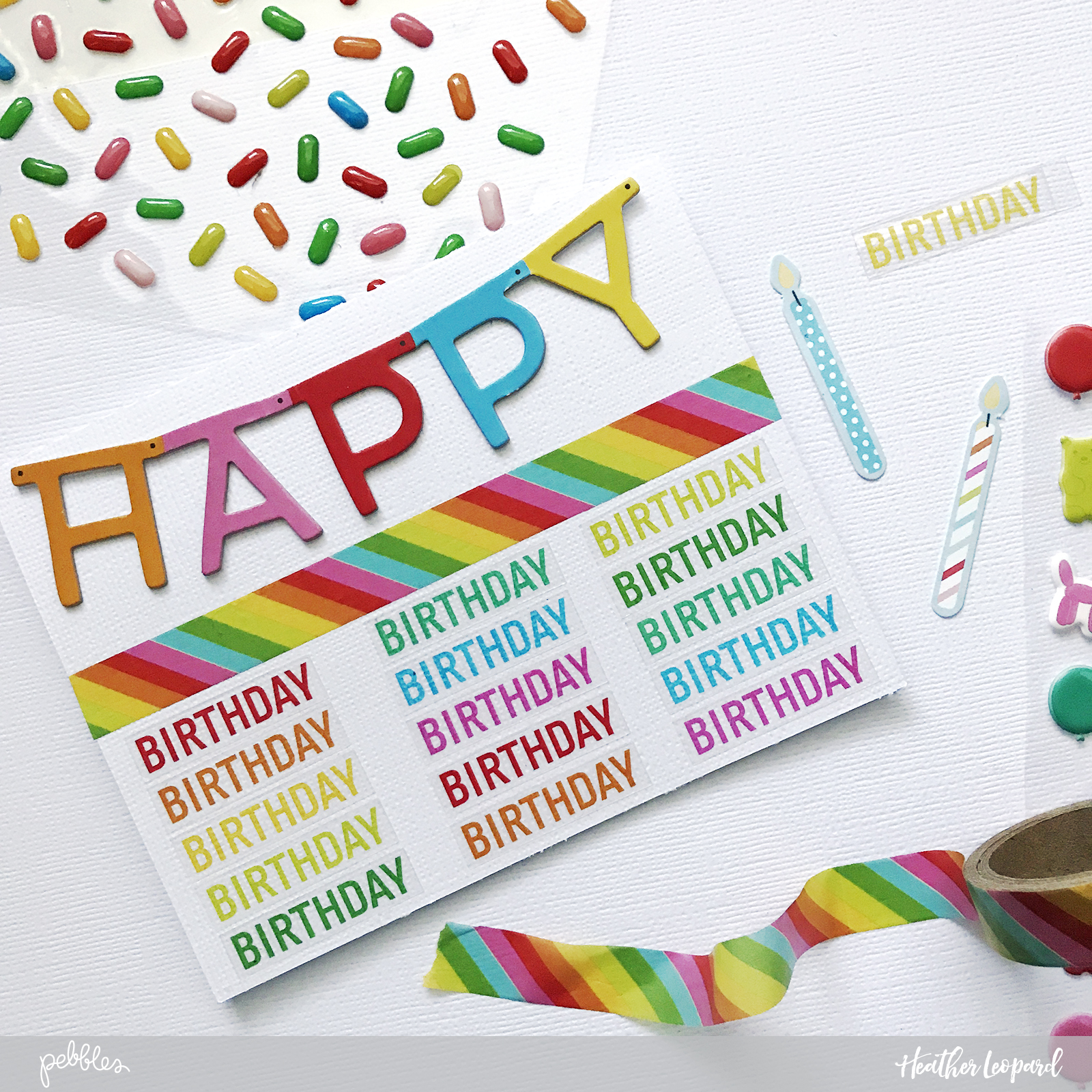 Birthday Card set by @heatherleopard using @PebblesInc #HappyHooray collection #madewithpebbles #birthday #happybirthday #birthdaycard #birthdaycards