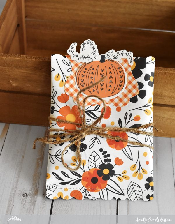 "Thanksgiving treat packets by @wendysue with the ""Midnight Haunting"" collection from @PebblesInc."