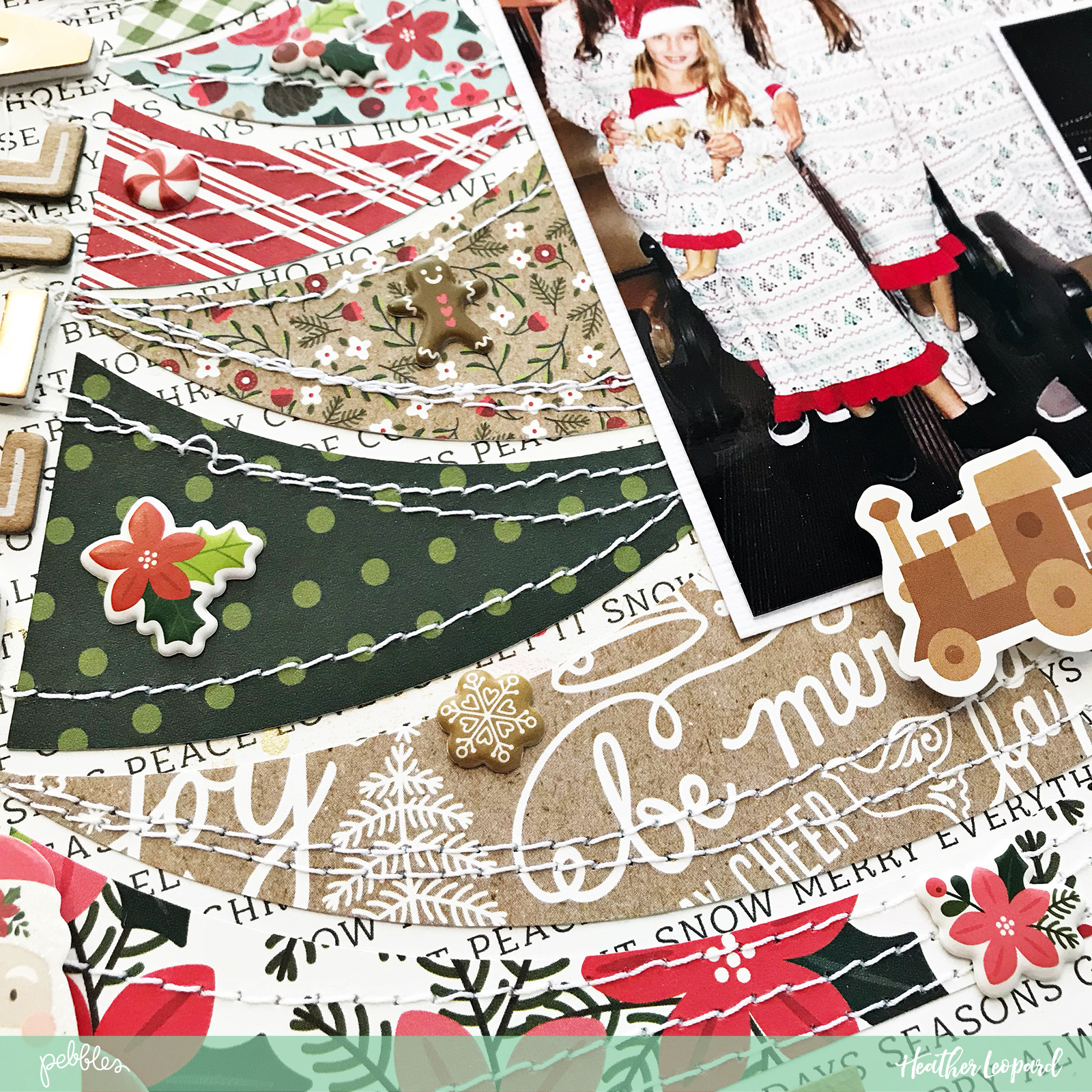 Christmas Traditions Scrapbooking Layout by @HeatherLeopard using @PebblesInc #merrymerry collection #madewithpebbles #scrapbooking #scrapbook #Christmas #ChristmasTraditions #ChristmasTree #Cutfile