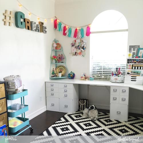 @HeatherLeopard's Scrapbooking Room Craft Room Tour @PebblesInc #craftroom #scrapbookingroom #organization #scrapspace