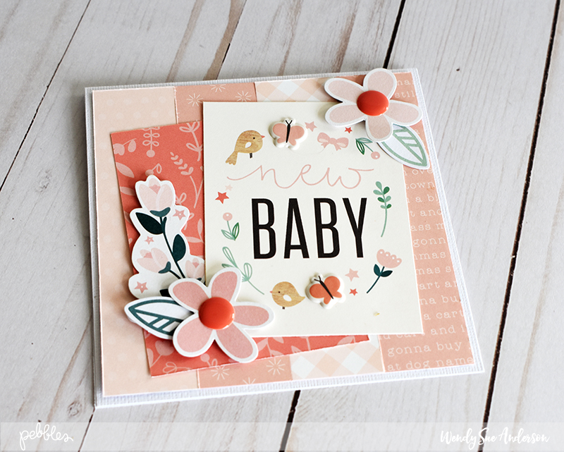 "Quick and Easy Paper Strip Cards by @WendySue featuring the ""Night Night"" collection by @PebblesInc."