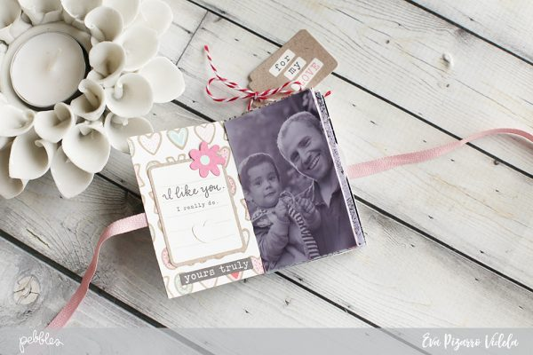Create a One Page Mini Album in a few minutes with this tutorial from @evapizarrov using the new Forever My Always Line from @pebblesinc