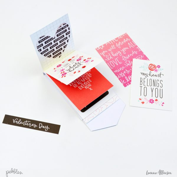 Valentines Day Waterfall Card
