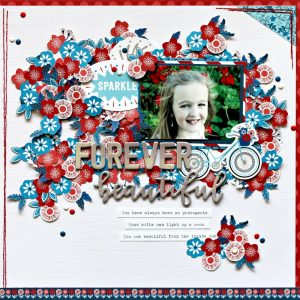Michelle Gallant is up on the Pebbles blog today; don't miss her darling Canada Day layouts!