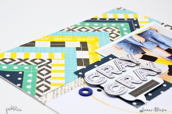Create your own tribal pattern with @PebblesInc patterned paper.