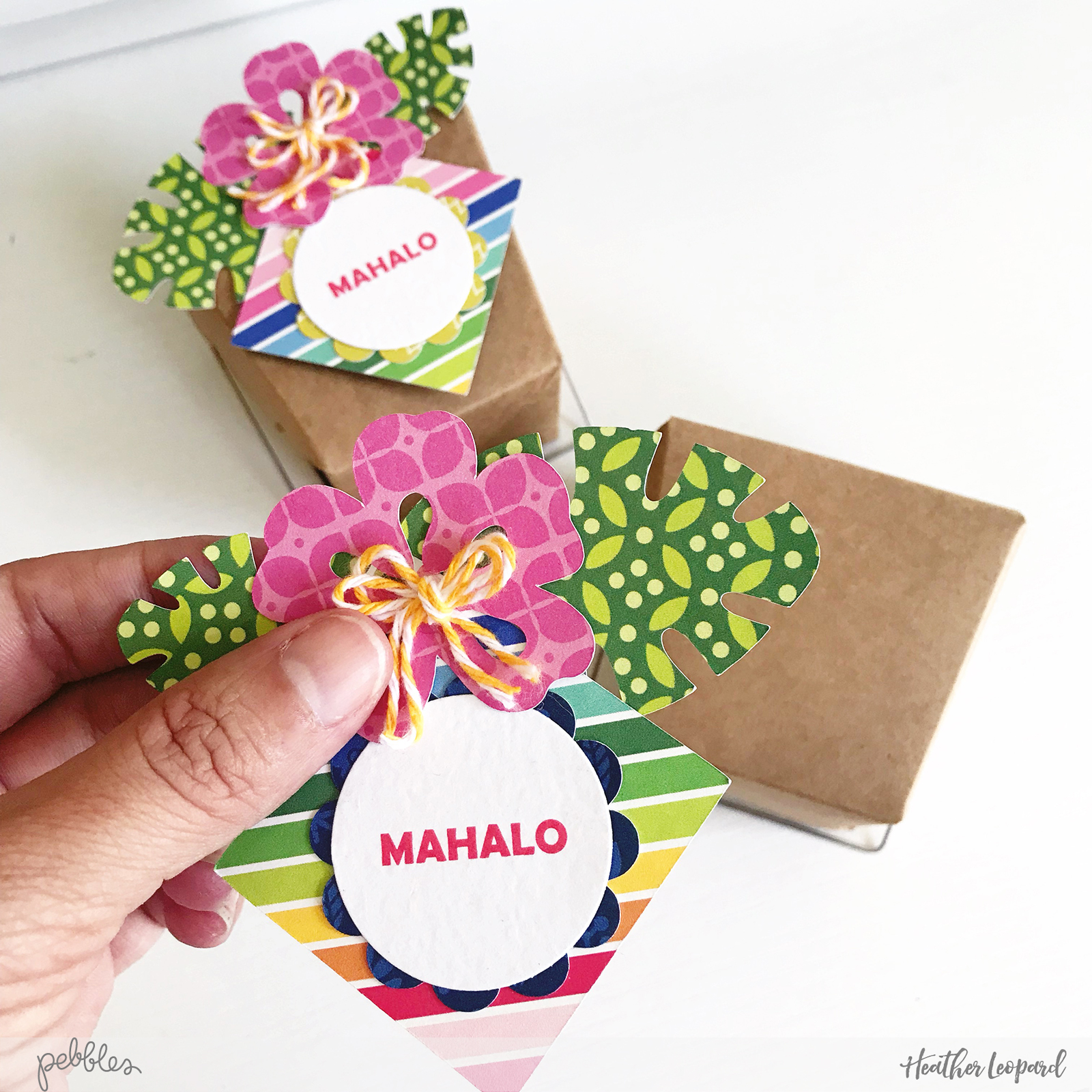 Aloha Luau Party by @HeatherLeopard @PebblesInc #MyBrightLife #aloha #madewithpebbles #hawaiian #luau #party #pineapple #luauparty #partydecor #giftbag #goodybag