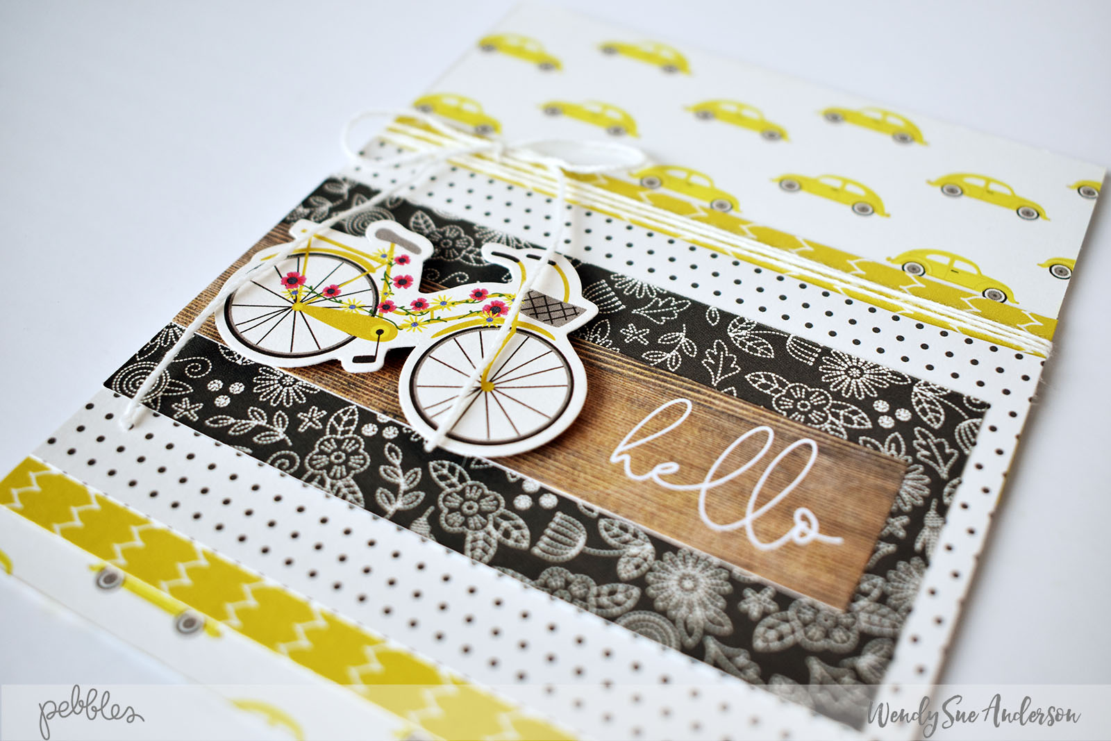 """My Bright Life"" Card Challenge by @WendySue for @PebblesInc."
