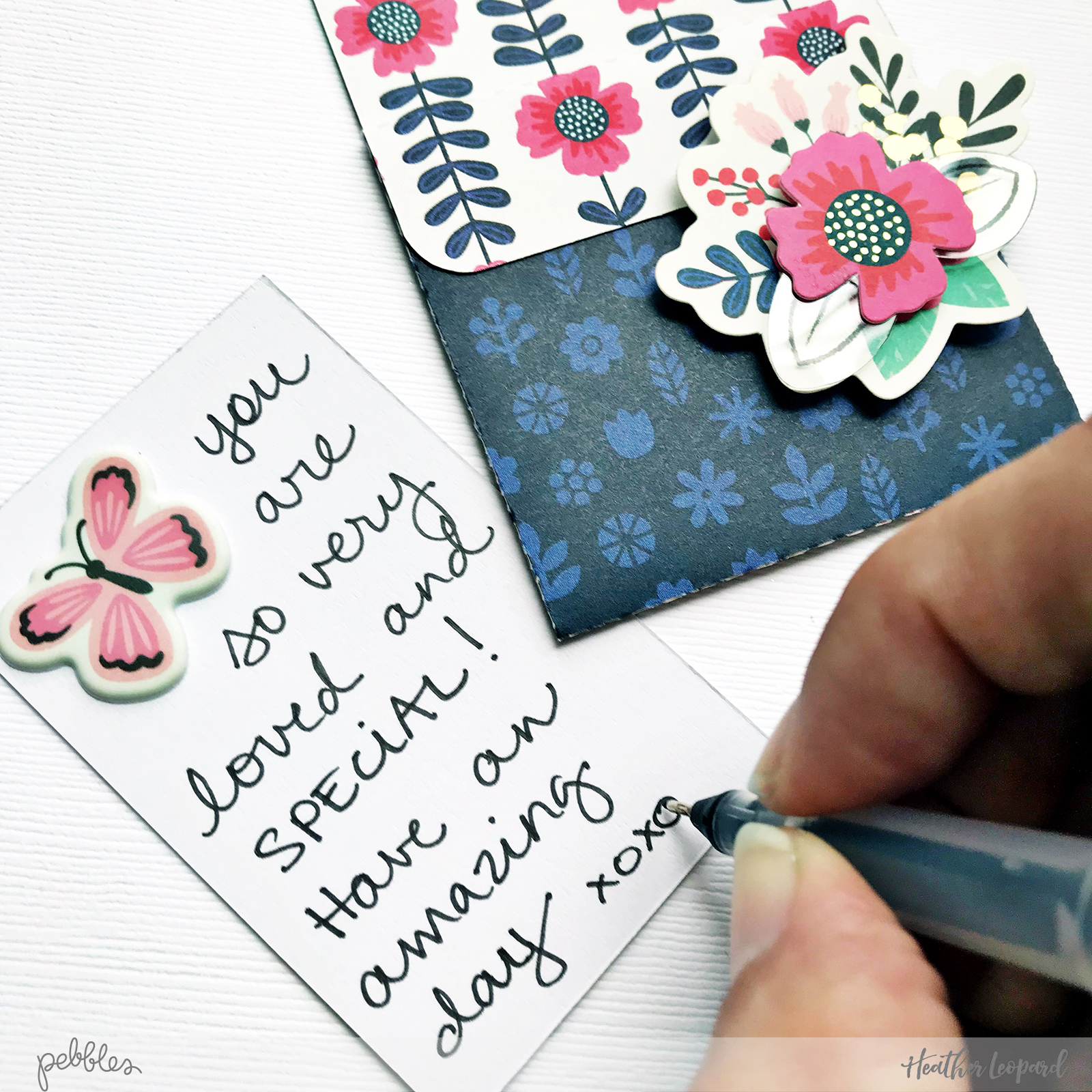 School Lunch Notes by @HeatherLeopard using @pebblesinc #MyBrightLife collection #backtoschool #lunchnotes #cards #card