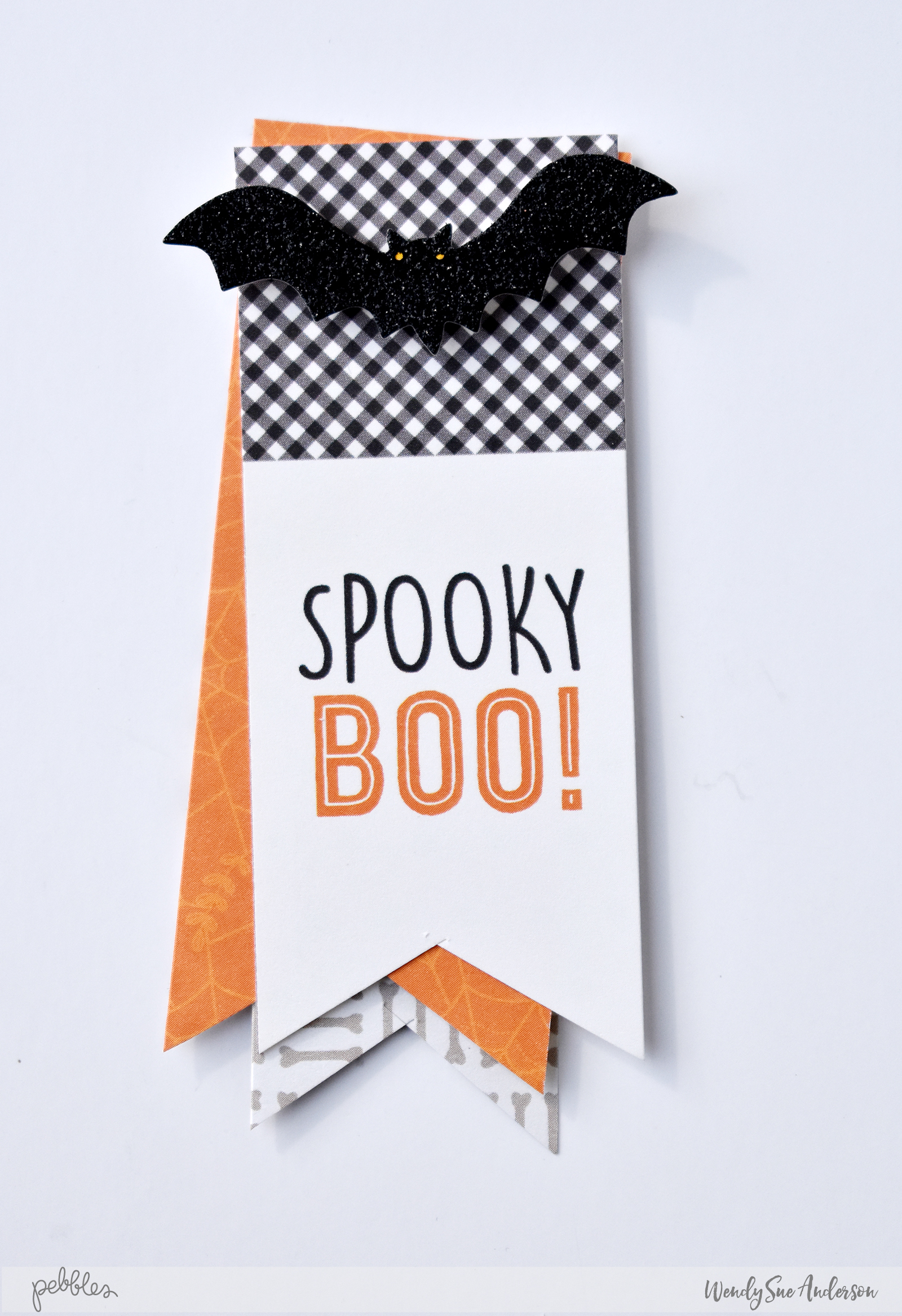"Halloween Bat Treat Boxes by @WendySue with the ""Spooky Boo"" Collection by @PebblesInc."