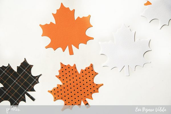 Decorate your Thanksgiving dinner table with leaves and thank you notes made with the new #SpookyBoo line from @pebblesinc. pc:@evapizarrov #madewithpebbles #pebblesinc