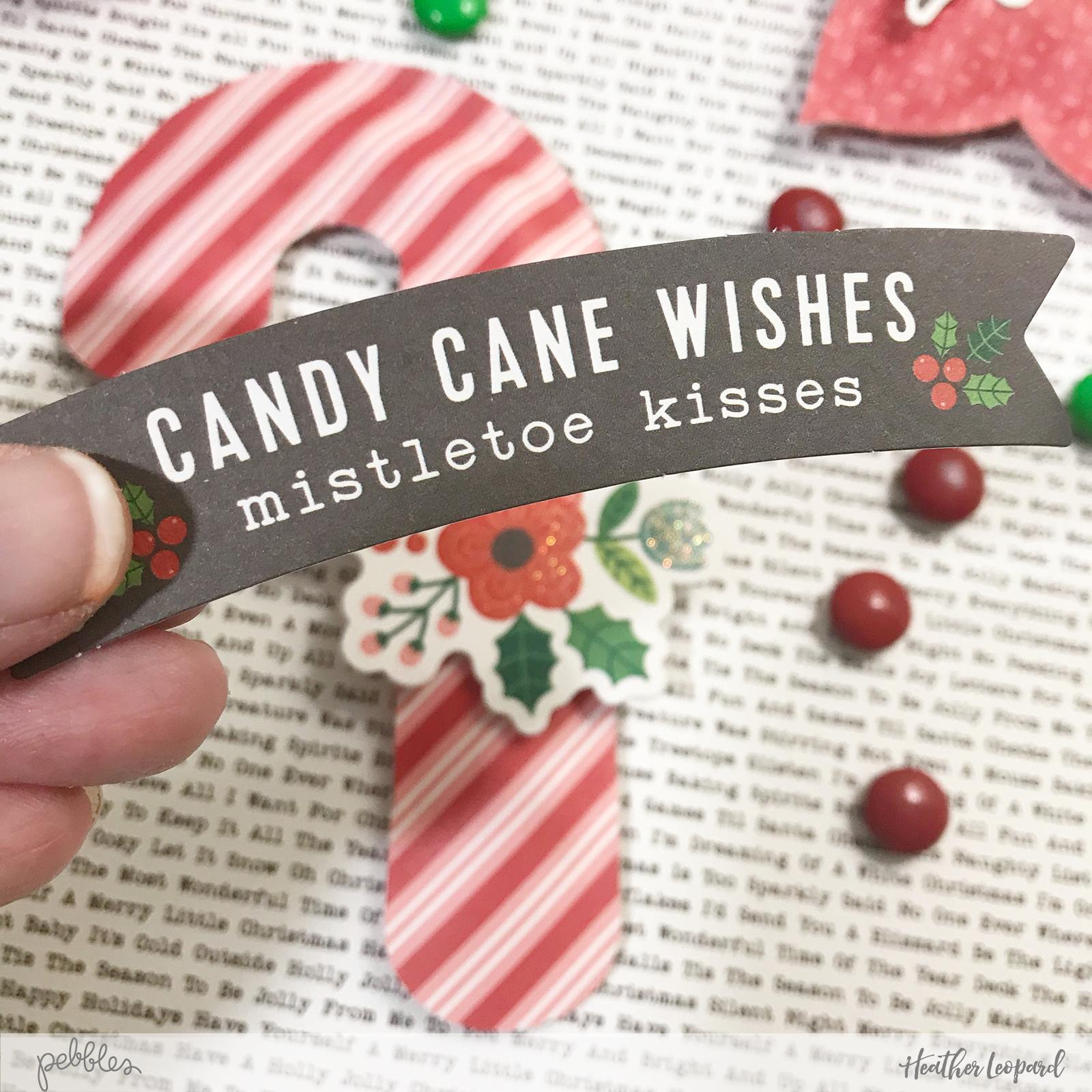 Christmas Treats by @HeatherLeopard using the @PebblesInc #cozyandbright collection #madewithpebbles #Christmas #gifts #Christmastreats