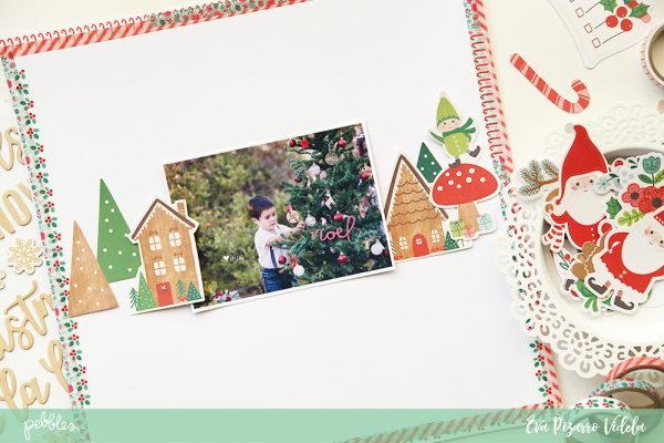 create a colorful and fast edge on your pages using washi tape! Project by @evapizarrov using the Cozy And Bright collection from @pebblesinc