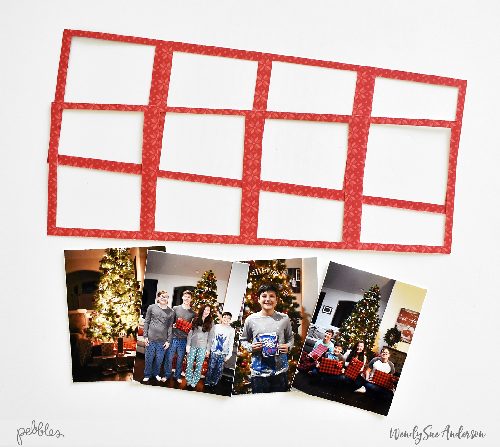 "Quick and Easy Christmas Eve Layout by Wendy Sue Anderson featuring the ""Cozy & Bright"" collection by #PebblesInc."