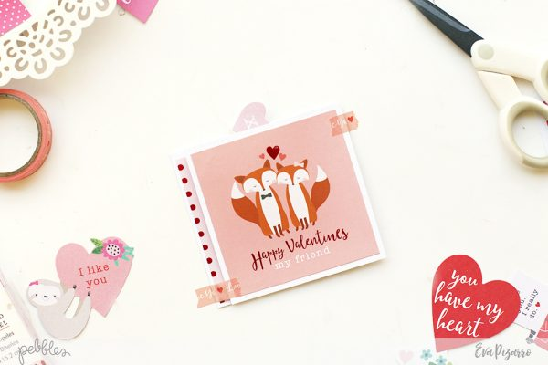 Create an easy Valentine's Wiper Card with this tutorial from @evapizarrov using @pebblesinc new line Loves Me #pebblesinc #madewithpebbles