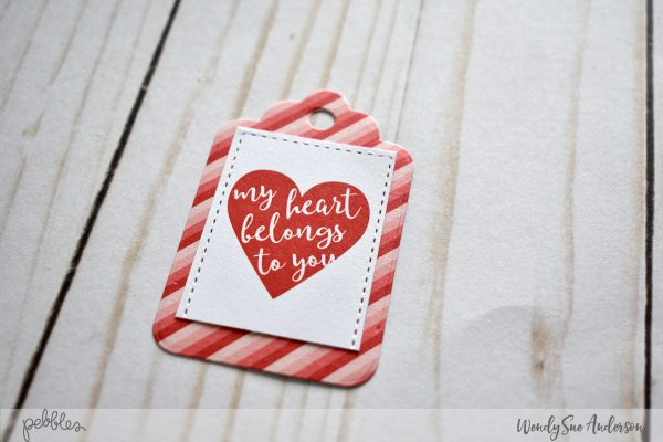 "Quick and Easy Valentine Tags by Wendy Sue Anderson featuring the ""Loves Me"" Collection by @PebblesInc."