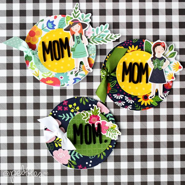 "Quick and Easy Round Mother's Day Cards by Wendy Sue Anderson for @PebblesInc. featuring the ""Chasing Adventures"" collection"