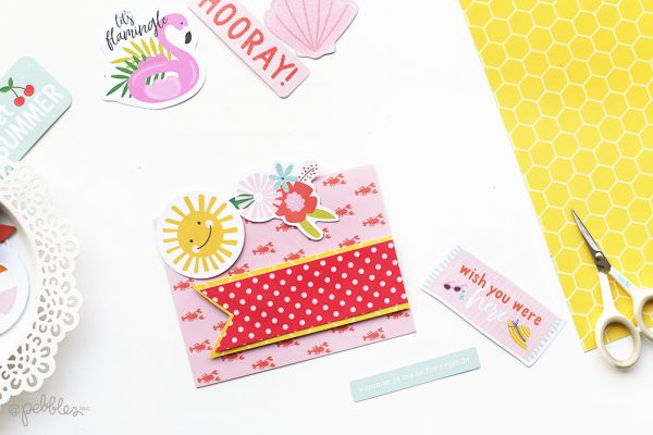 Create a quick and easy card trio with this tutorial from @evapizarrov using @pebblesinc new line Oh Summertime. #pebblesinc #madewithpebbles