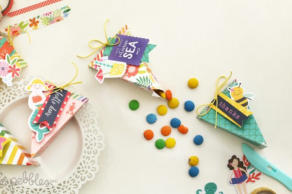 Create lovely boxes in minutes with the Banner Punch Board and the Oh Summertime line by @pebblesinc . pc:@evapizarrov