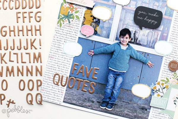 Use your stamps to create a fun and easy layout with this tutorial from @evapizarrov using the This is Family line from @pebblesinc