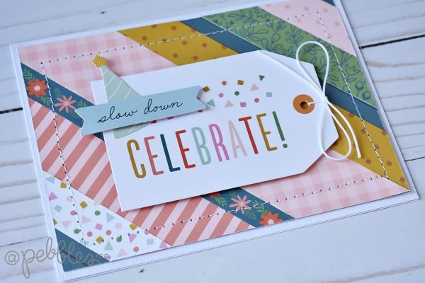 """Use your scraps to make a fun card set! Cards by Wendy Sue Anderson for #PebblesInc. featuring the """"This is Family"""" Collection"""
