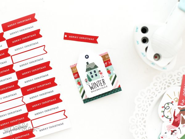 create quick and easy handmade cards during this holiday season with this tutorial from @evapizarrov using the new Merry Little Christmas line from @pebblesinc