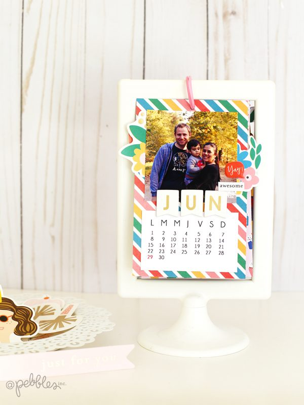 Create a cute mini calendar for next year with this tutorial from @evapizarrov using the #HappyCakeDay line from @pebblesinc