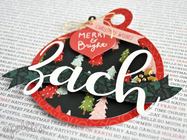 "Oversized Oranment Tags by Wendy Sue Anderson for @PebblesInc. featuring the ""Merry Little Christmas"" collection"