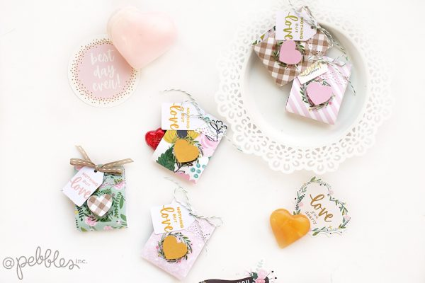 Ready for Valentine's Day? @evapizarrov teaches you how to create these cute mini treats with the new Lovely Moments collection by @pebblesinc #pebblesinc #madewithpebbles