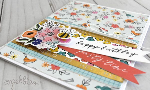 "Birthday Cards with a Spring Vibe by Wendy Sue Anderson for @PebblesInc. featuring the ""Hey Hello"" collection"