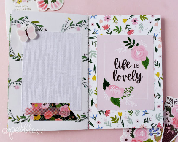 "quick and easy ""You and Me"" mini album by Wendy Sue Anderson for @PebblesInc. featuring the ""Lovely Moments"" Collection"