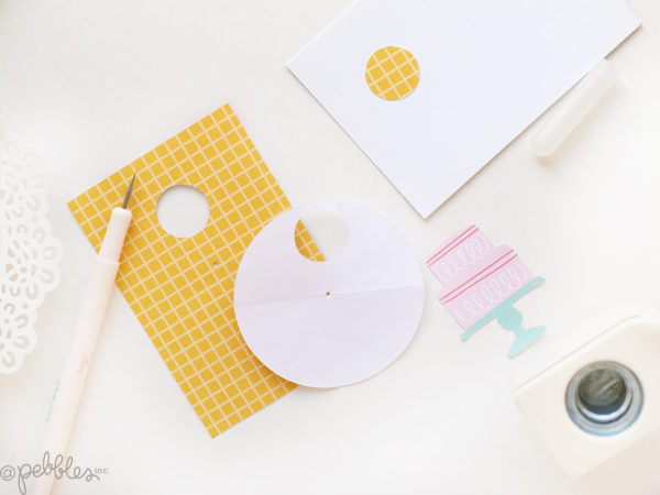 Create an interactive birthday card that will wow your friends with this tutorial from @evapizarrov using the Happy Cake day Line by @pebblesinc