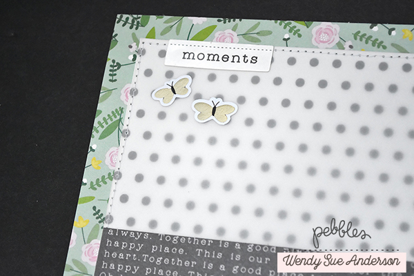 "Family layout by Wendy Sue Anderson featuring the ""Lovely Moments"" collection by @PebblesInc."